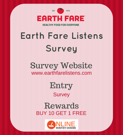 earth fare listens survey